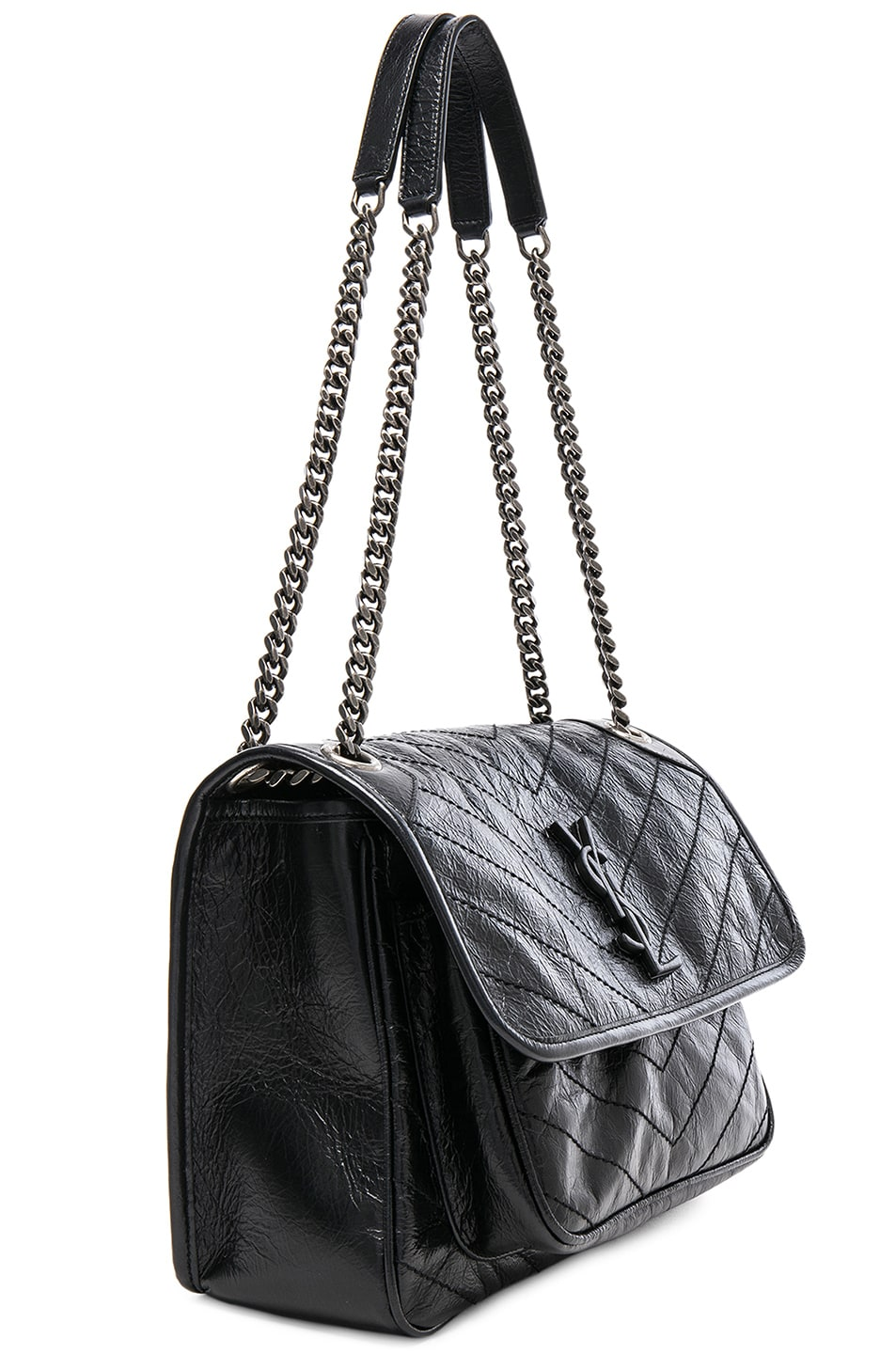 Saint Laurent Medium Niki Monogramme Chain Bag In Black Fwrd