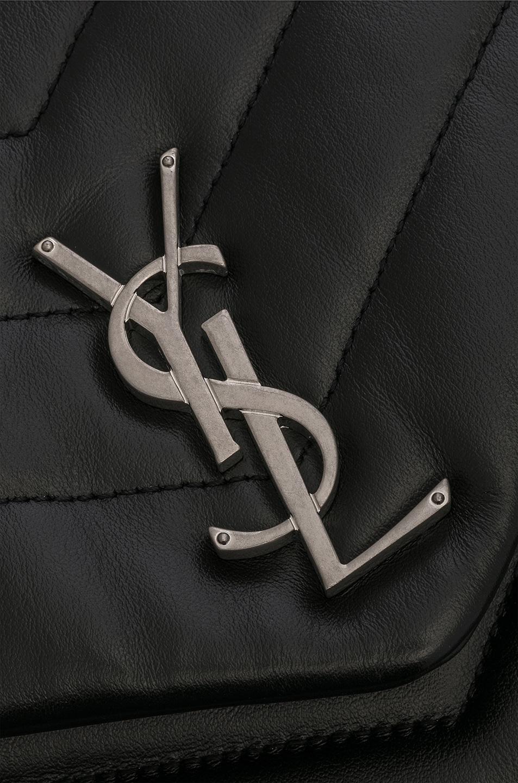 Image 7 of Saint Laurent Medium Supple Monogramme Loulou Backpack in Black