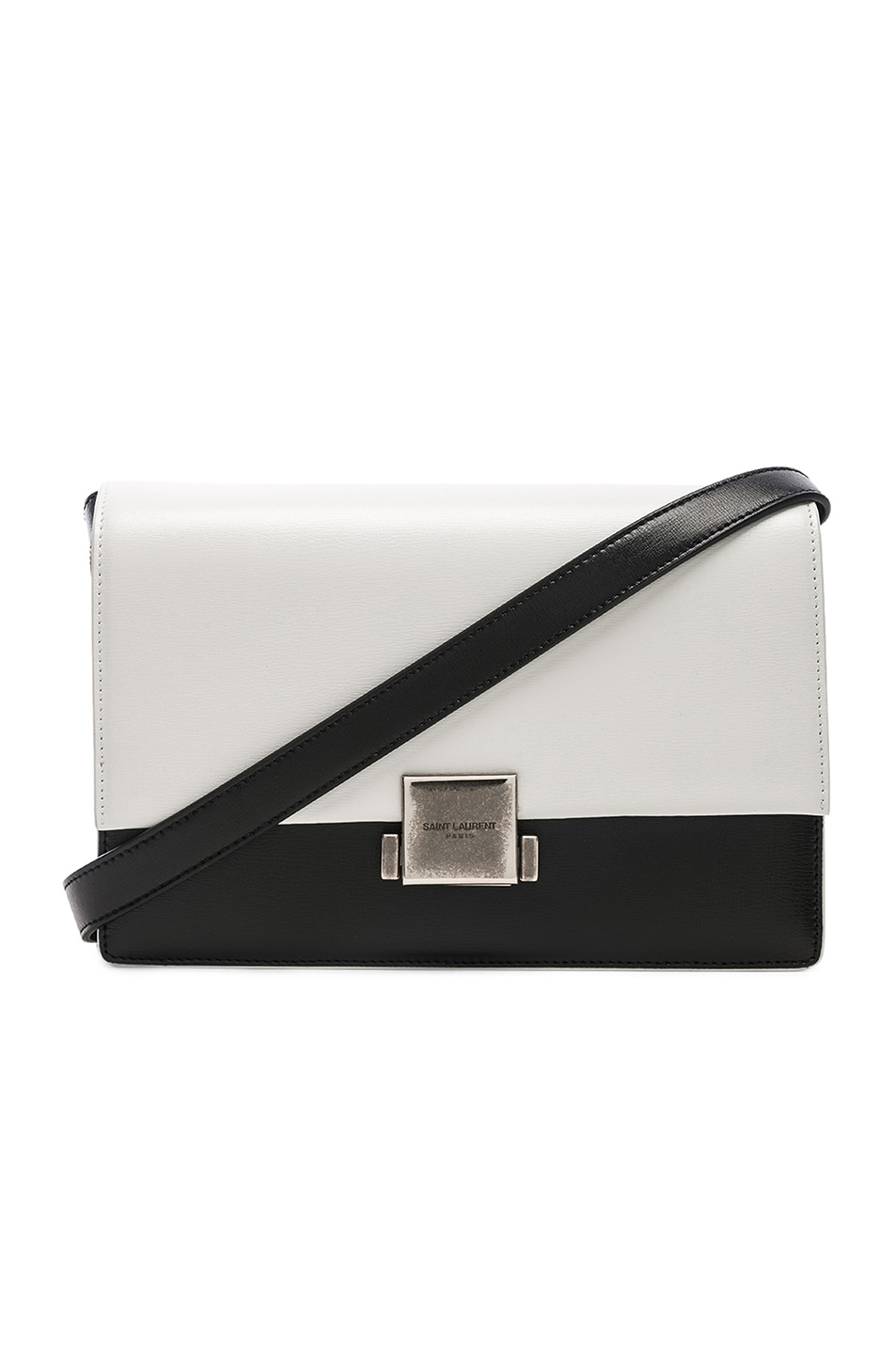 Medium Colorblock Leather Bellechasse Satchel in White Saint Laurent Free Shipping Geniue Stockist Cheap Sale Fake Buy Cheap Official Site Free Shipping Visit New RYjJa1BZTo