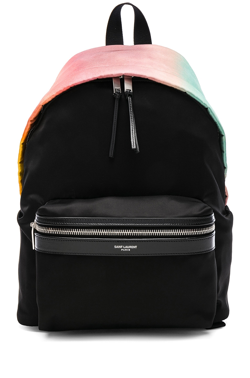 City Ombre Print Satin Backpack - Pink