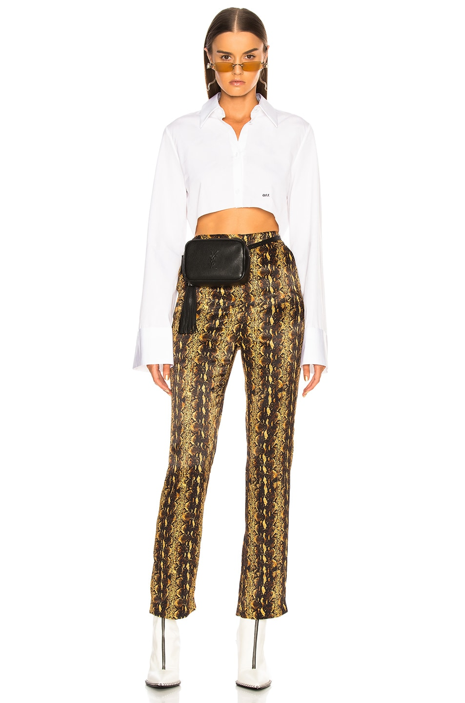 Image 2 of Saint Laurent Monogramme Lou Hip Belt with Pouch in Black