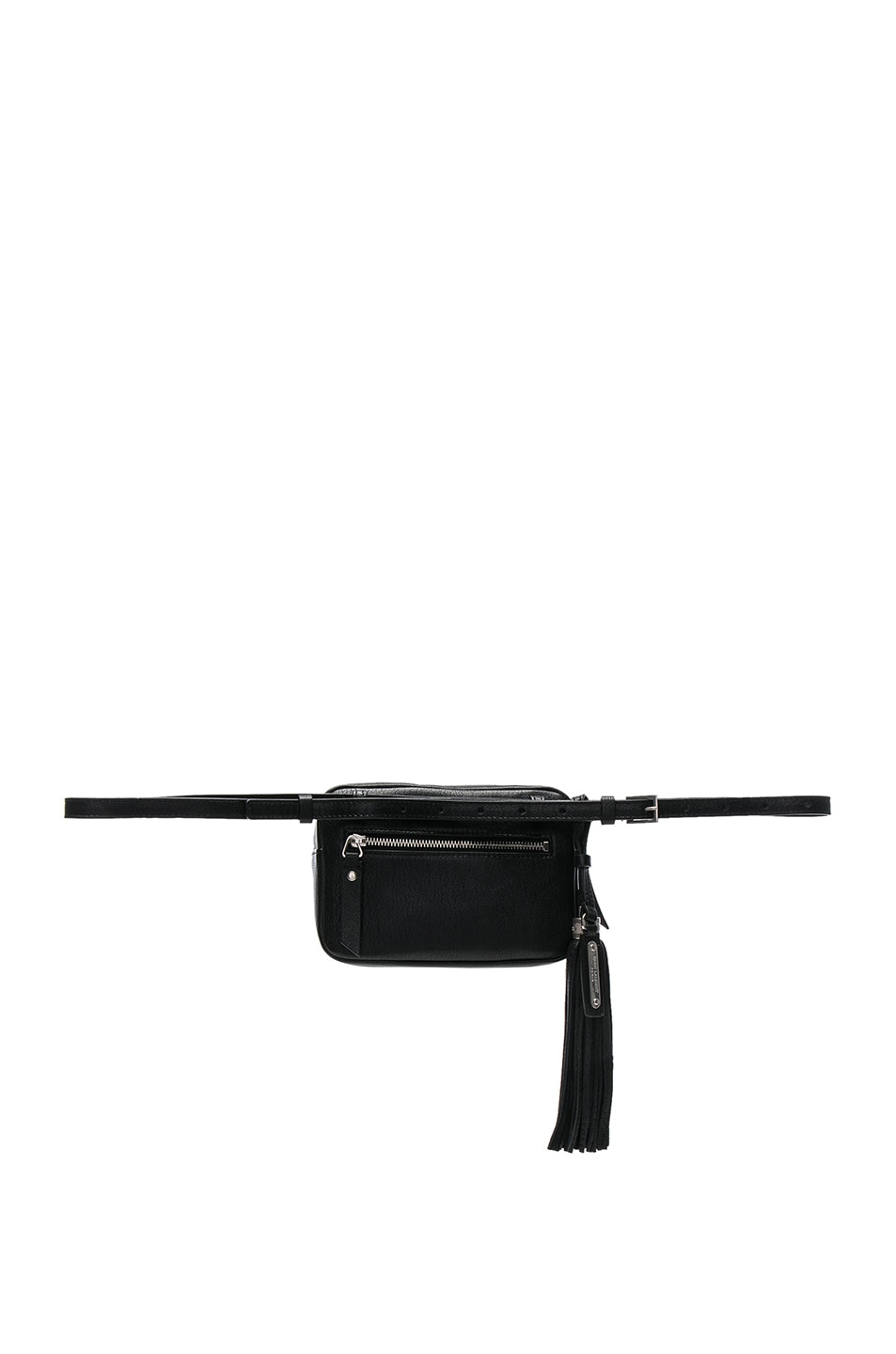 Image 3 of Saint Laurent Monogramme Lou Hip Belt with Pouch in Black