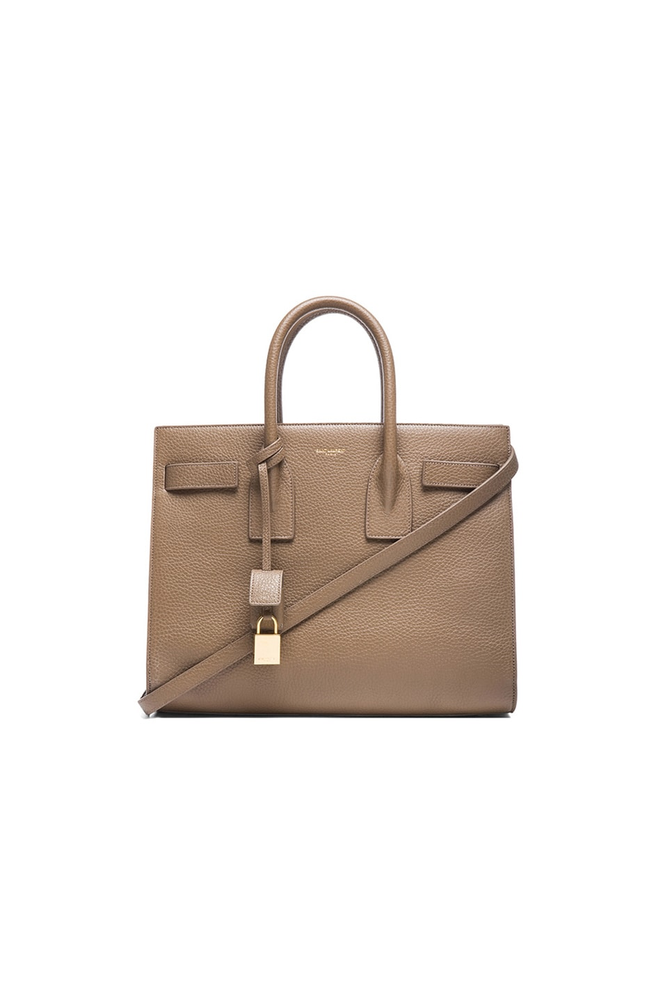 de5e7b67bb2d Image 1 of Saint Laurent Small Sac De Jour Carryall Bag in Taupe