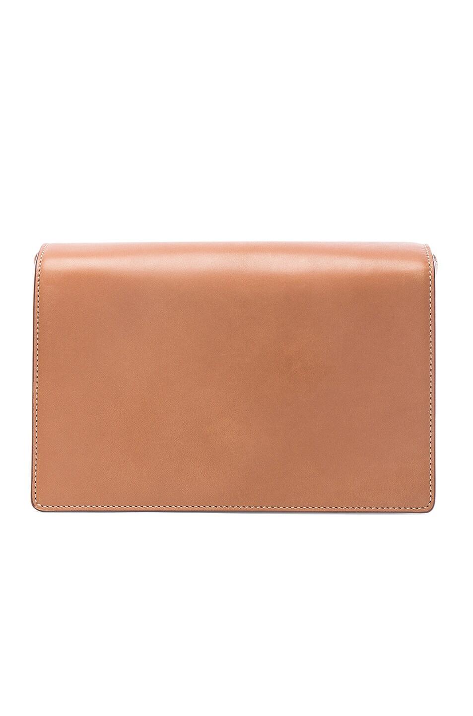 Image 3 of Saint Laurent Medium Leather Bellechasse Satchel in Brown Gold