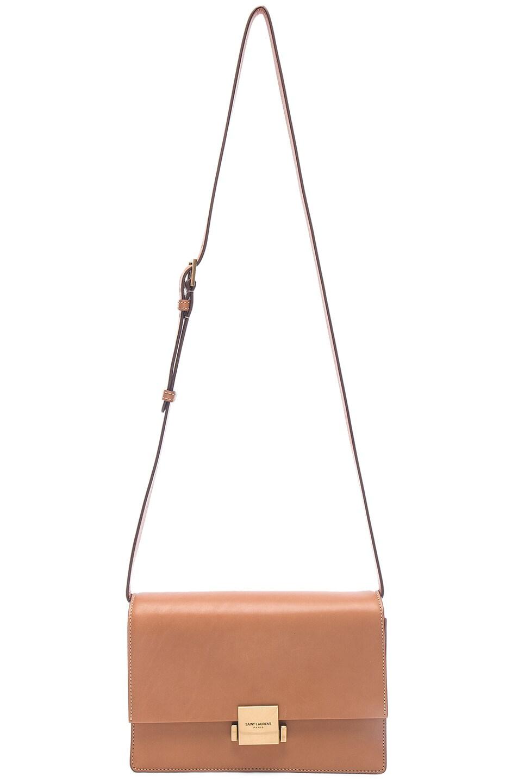 Image 5 of Saint Laurent Medium Leather Bellechasse Satchel in Brown Gold