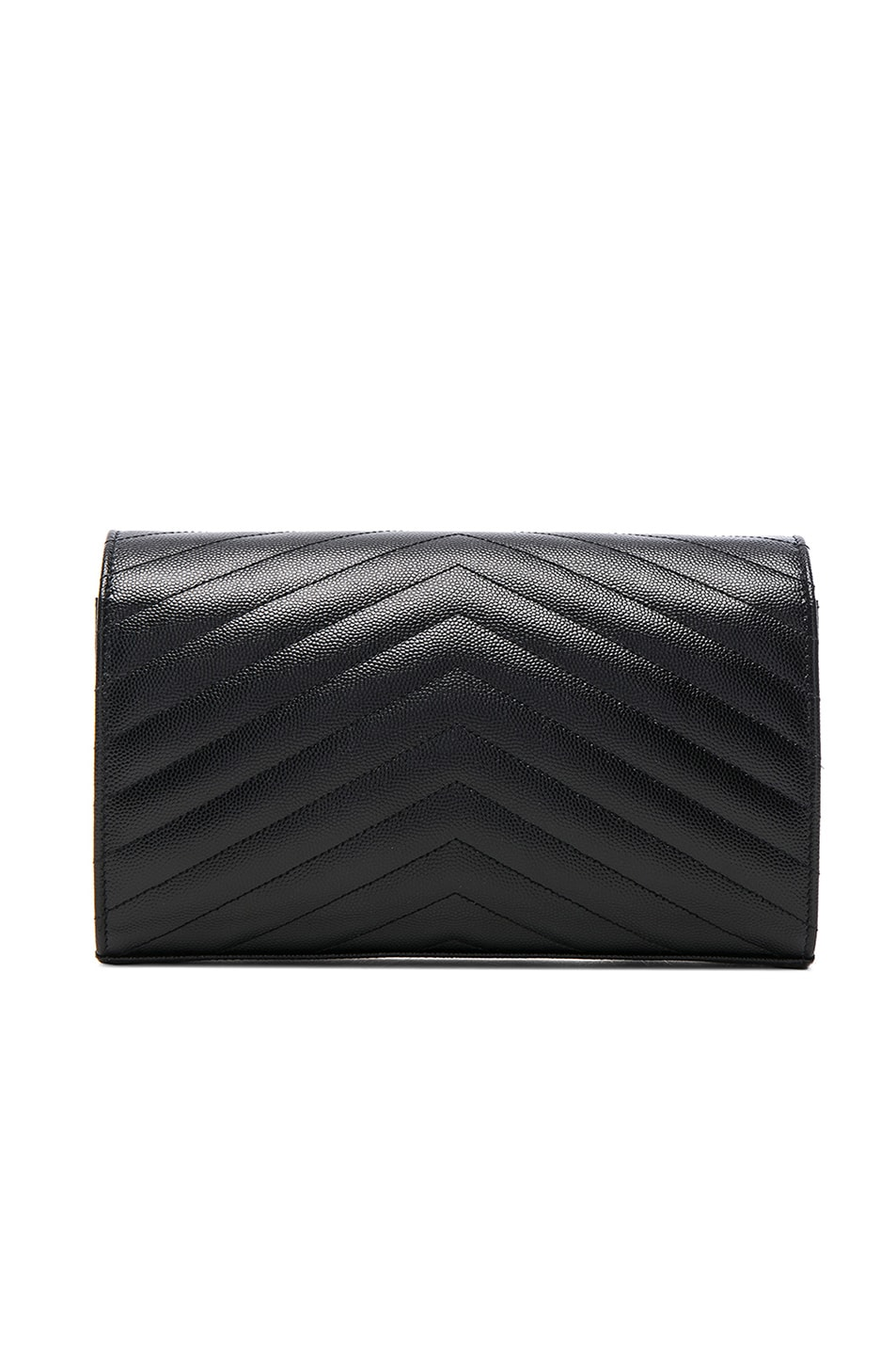 Image 3 of Saint Laurent Monogramme Chain Wallet in Black