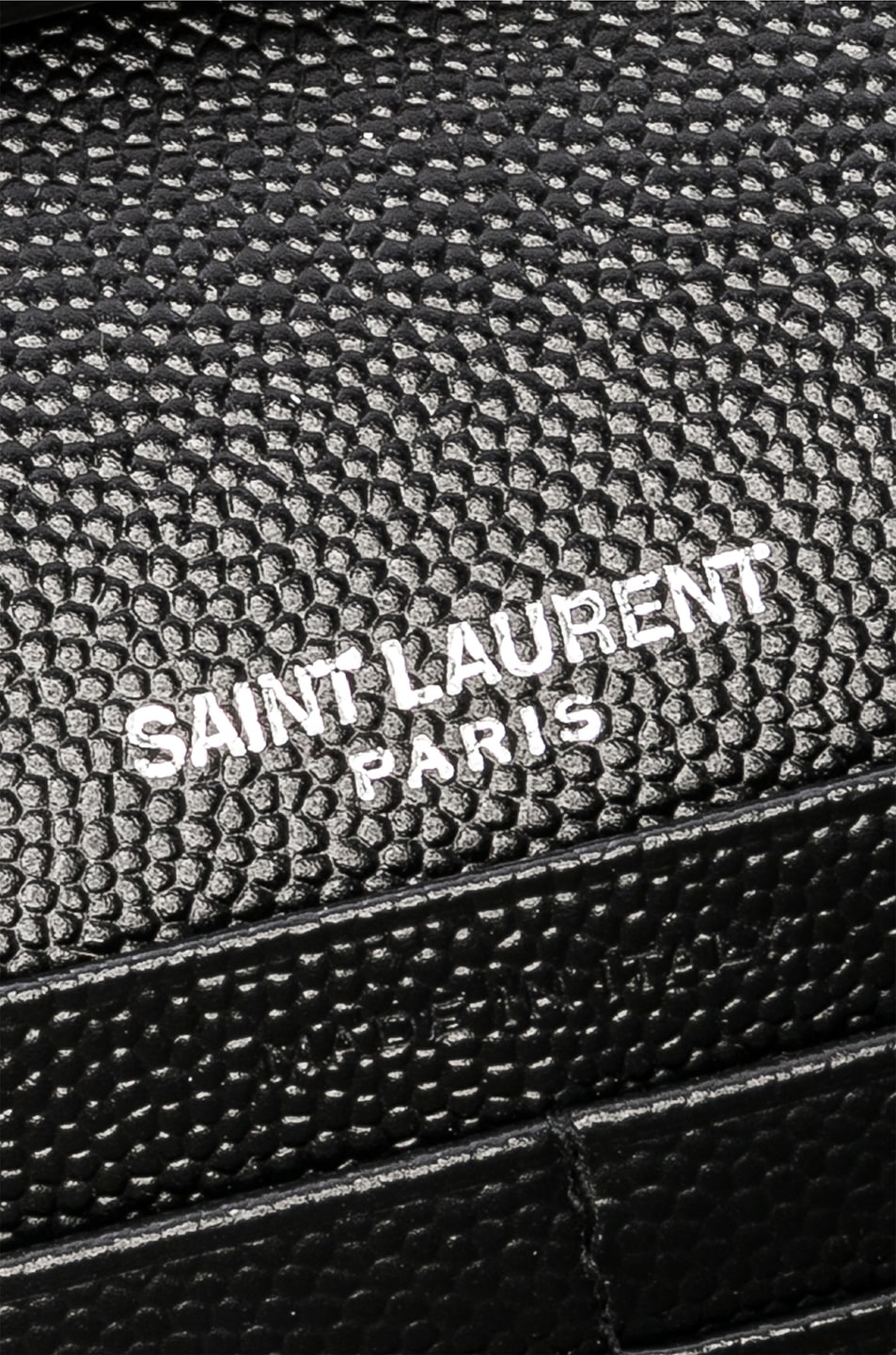 Image 7 of Saint Laurent Monogramme Chain Wallet in Black