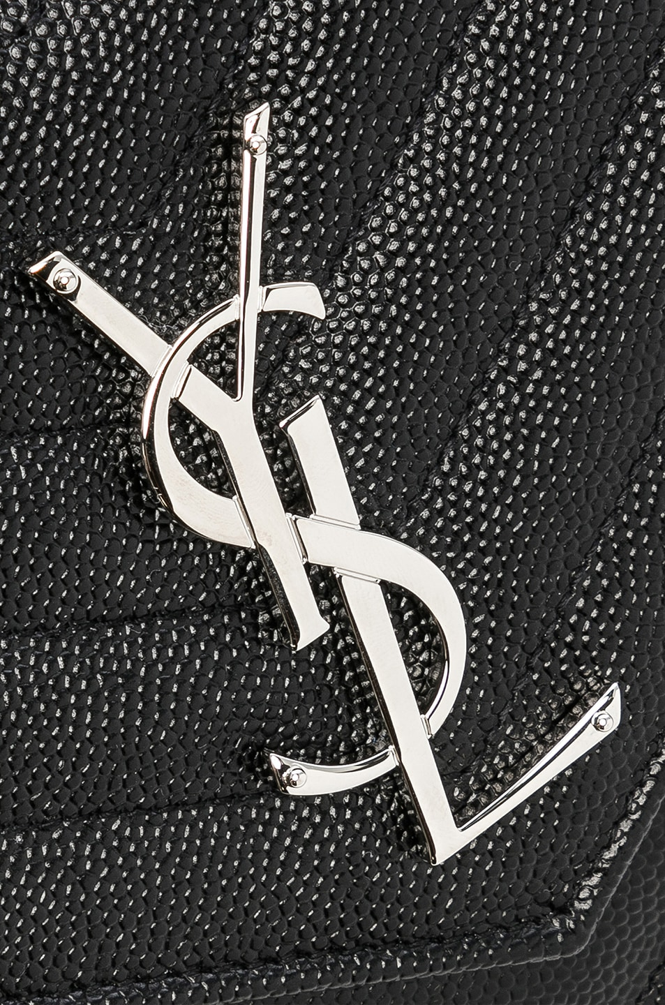 Image 8 of Saint Laurent Monogramme Chain Wallet in Black