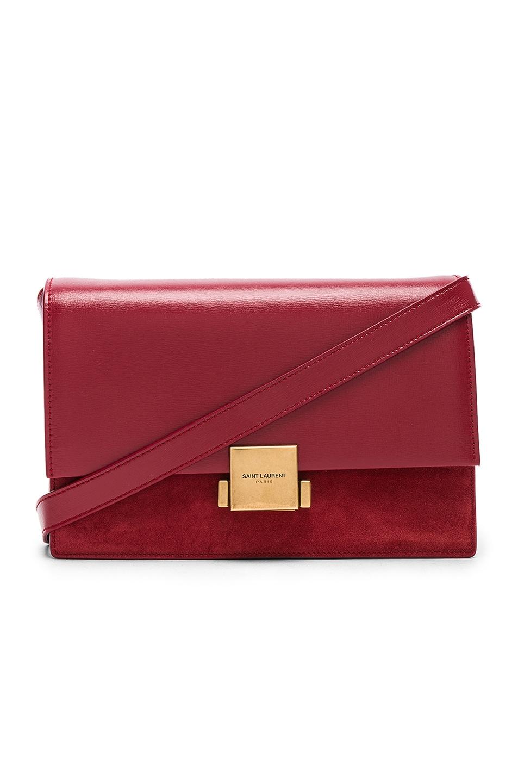 c2e0504baf Saint Laurent Medium Leather & Suede Bellechasse Satchel in Red ...