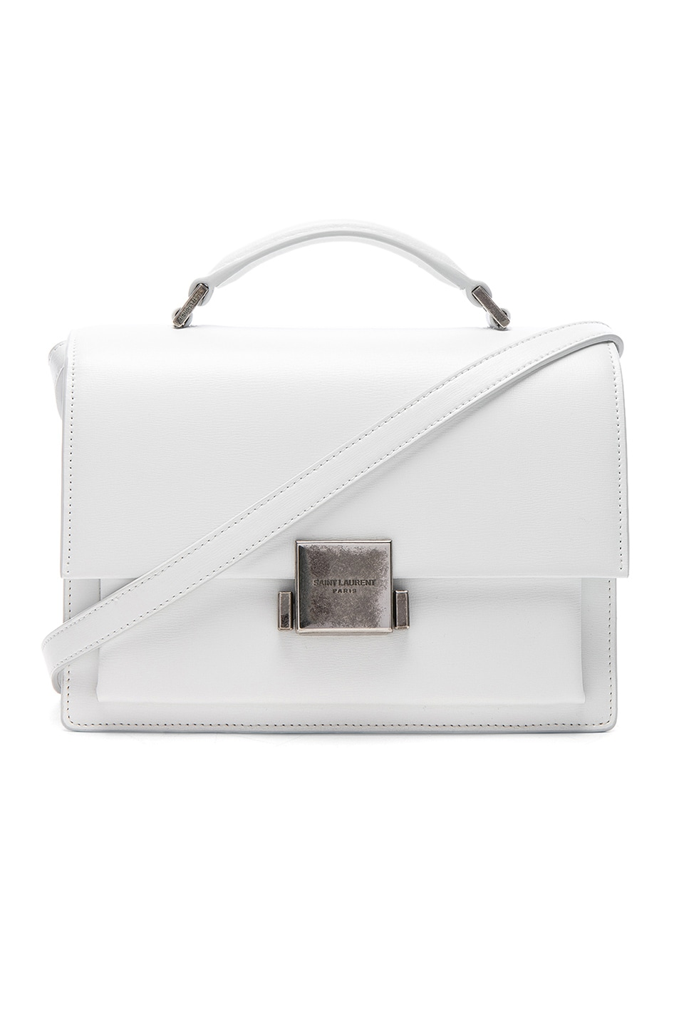 Image 1 of Saint Laurent Medium Bellechasse Schoolbag in Optic White