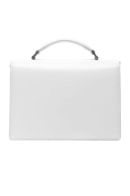 Image 3 of Saint Laurent Medium Bellechasse Schoolbag in Optic White