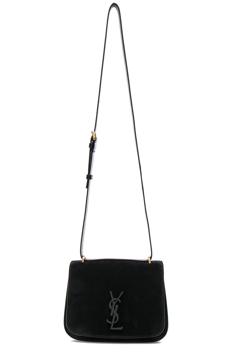 29962f5d28 Image 1 of Saint Laurent Small Suede   Leather Monogramme Spontini Satchel  in Black