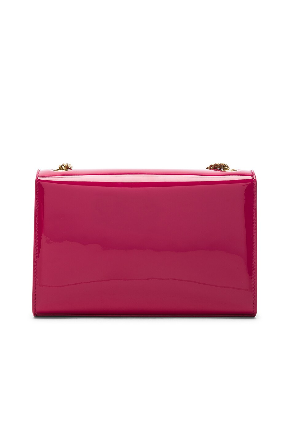 Image 3 of Saint Laurent Small Kate Monogramme Chain Bag in Shocking Pink