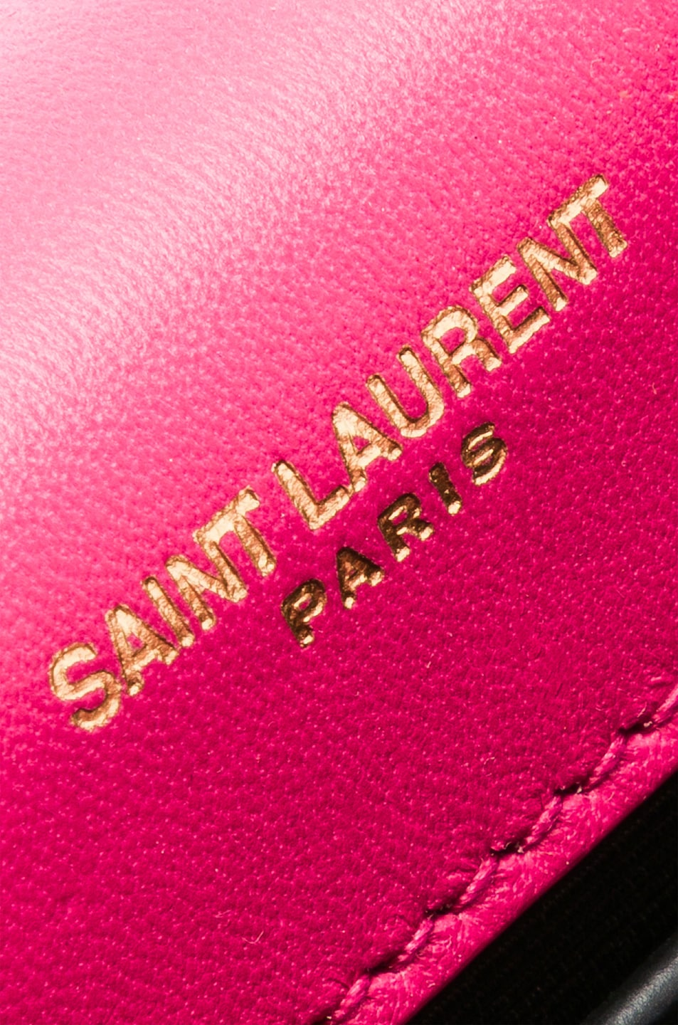 Image 7 of Saint Laurent Small Kate Monogramme Chain Bag in Shocking Pink