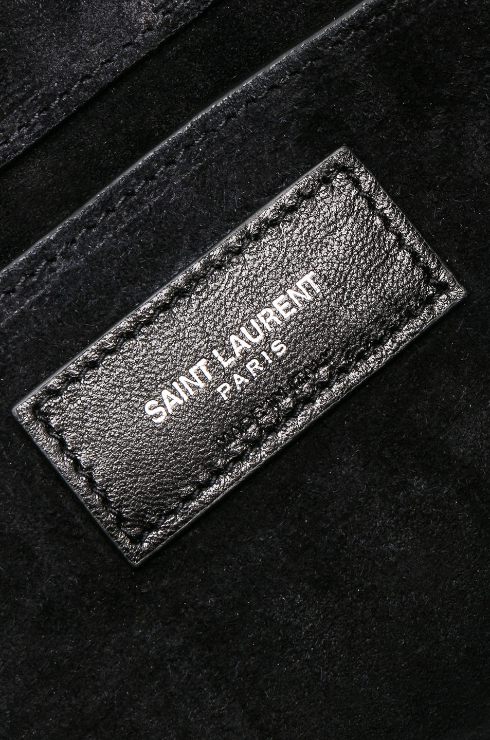 Image 7 of Saint Laurent Small Chevron Monogramme Kate Chain Bag in Black & Platinum