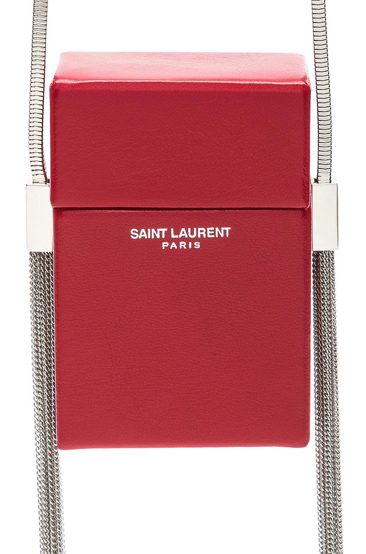 Image 1 of Saint Laurent Smoking Box Minaudiere in Eros Red