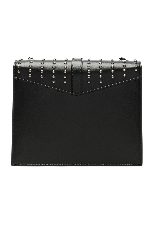 Image 3 of Saint Laurent Medium Studded Monogramme Sulpice Chain Bag in Black