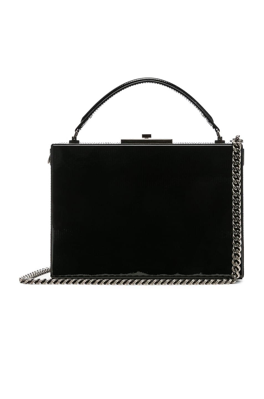 Image 1 of Saint Laurent Nan Leather Box Bag in Black