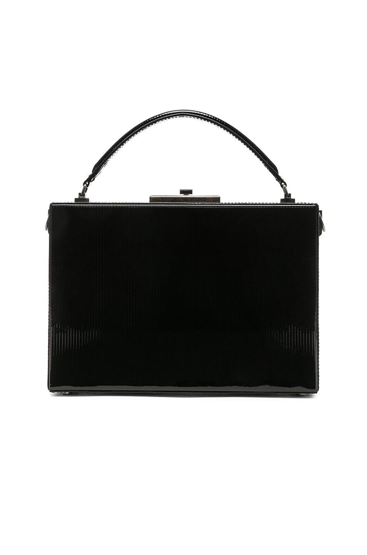 Image 3 of Saint Laurent Nan Leather Box Bag in Black