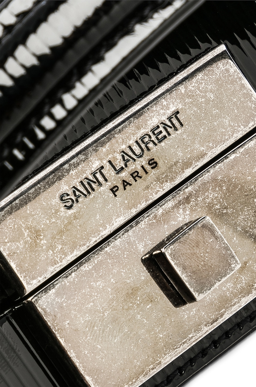 Image 8 of Saint Laurent Nan Leather Box Bag in Black
