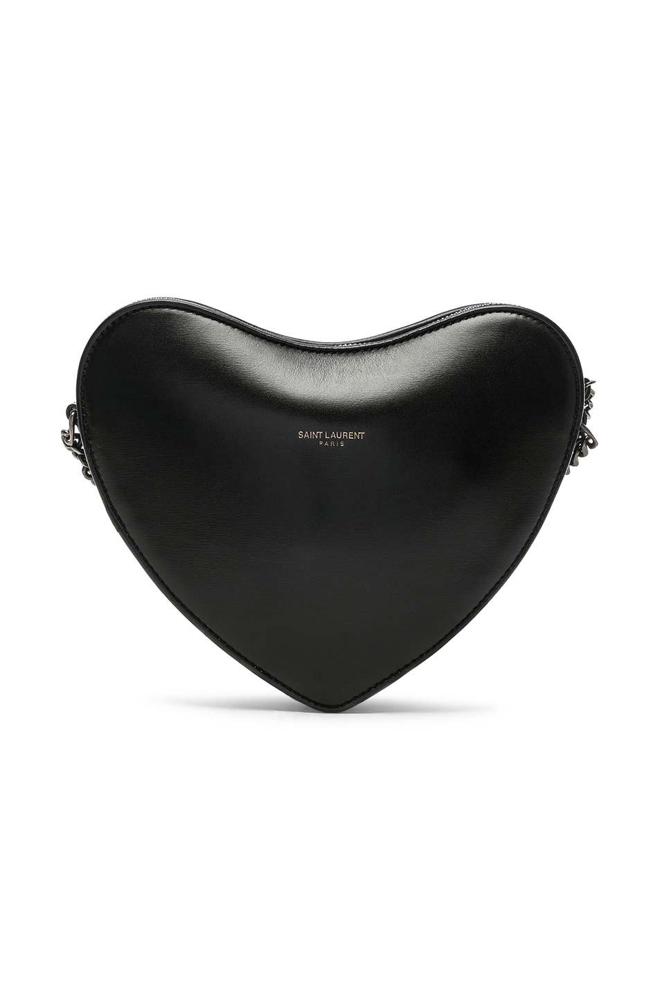 Image 3 of Saint Laurent Monogramme Heart Shoulder Bag in Black