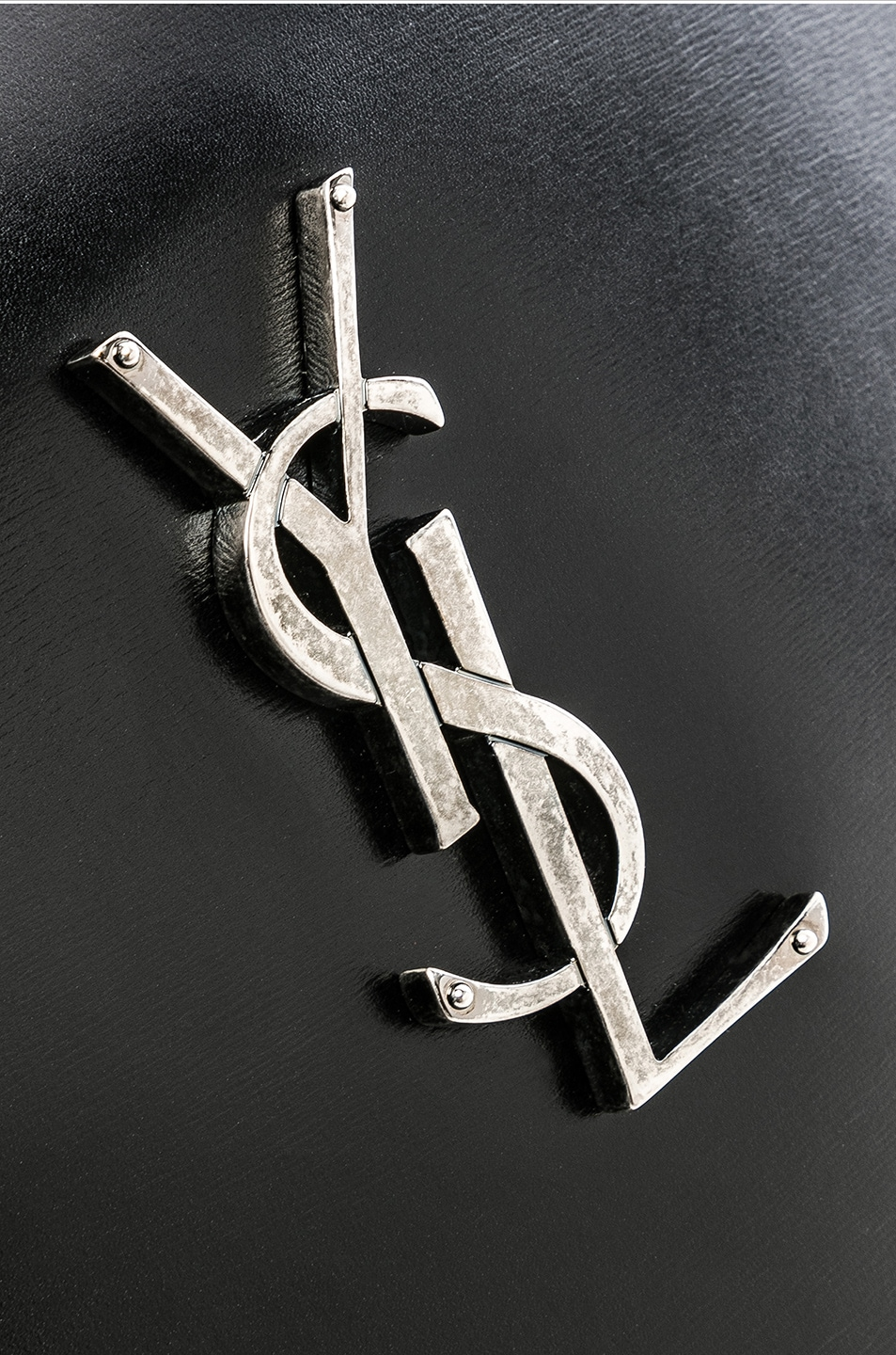 Image 8 of Saint Laurent Monogramme Heart Shoulder Bag in Black