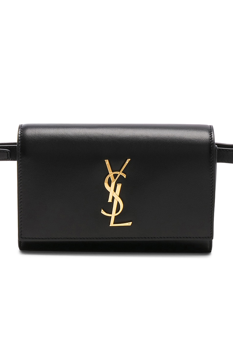 Image 1 of Saint Laurent Monogramme Kate Hip Belt with Pouch in Black