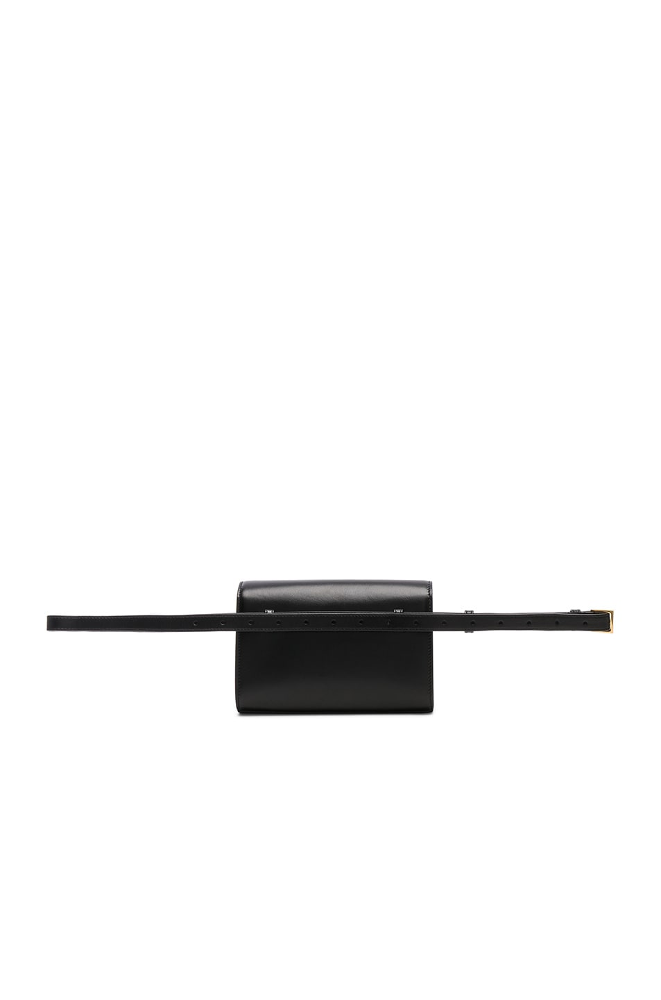 Image 3 of Saint Laurent Monogramme Kate Hip Belt with Pouch in Black