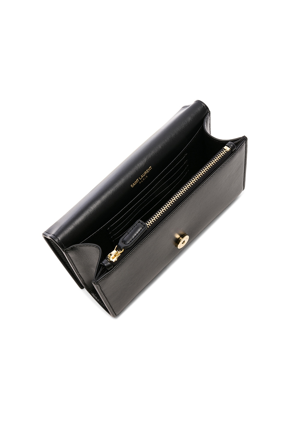 Image 5 of Saint Laurent Monogramme Kate Hip Belt with Pouch in Black