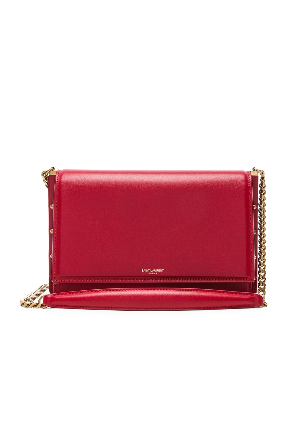 Image 1 of Saint Laurent Zoe Chain Bag in Eros Red