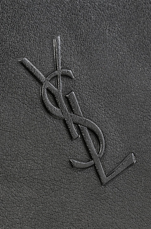 Image 8 of Saint Laurent Medium Logo Embossed Lou Satchel in Black
