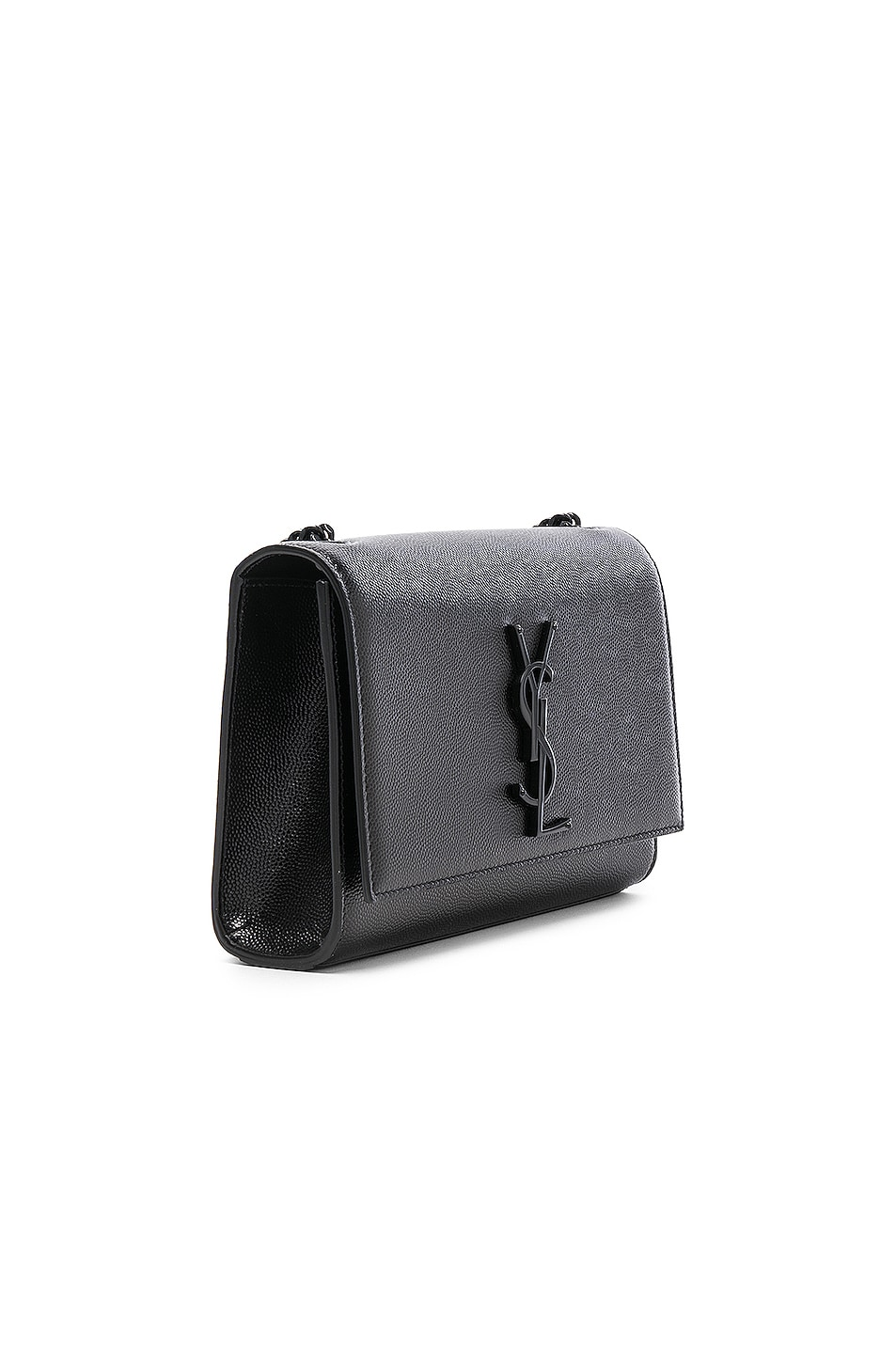 Image 4 of Saint Laurent Small Monogramme Kate Chain Bag in Black & Black
