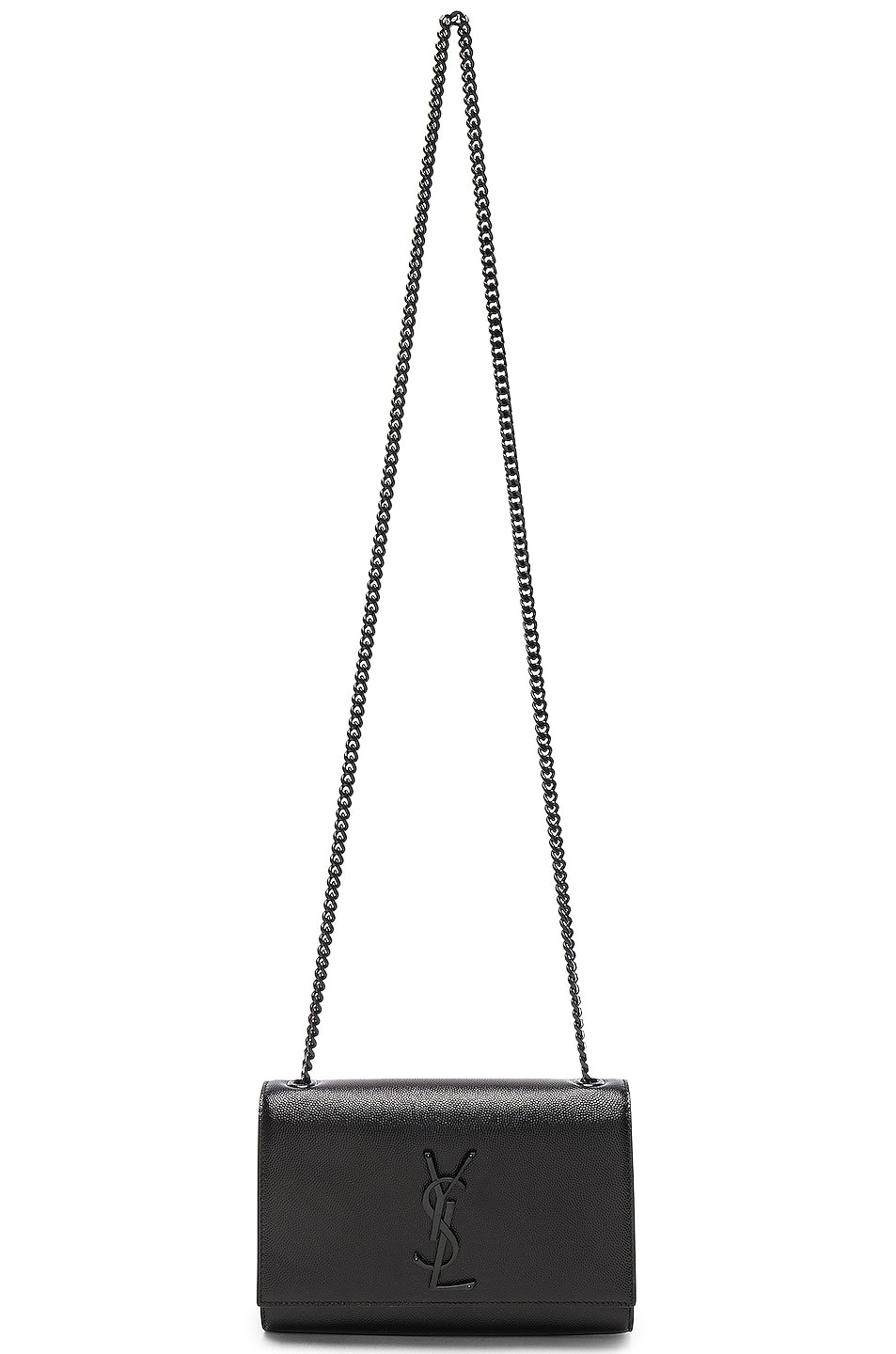Image 6 of Saint Laurent Small Monogramme Kate Chain Bag in Black & Black