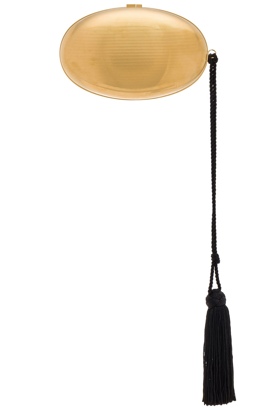 Image 3 of Saint Laurent Metal Shell Minaudiere in Gold & Black