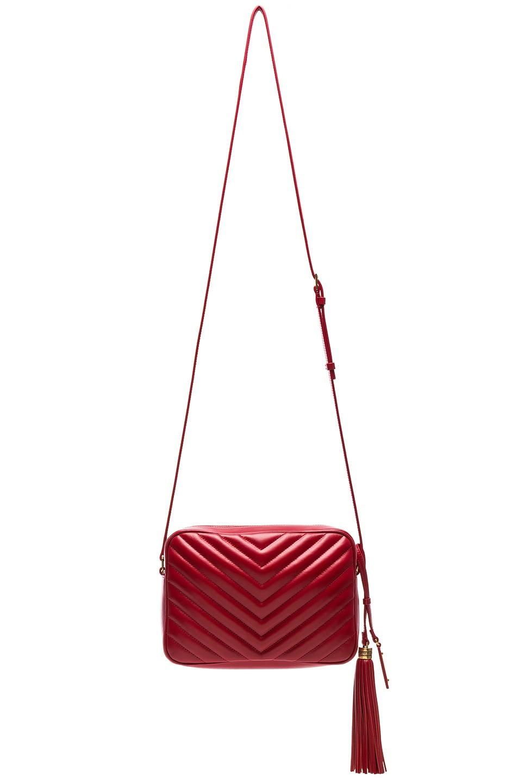 Image 3 of Saint Laurent Medium Monogramme Lou Satchel in Eros Red