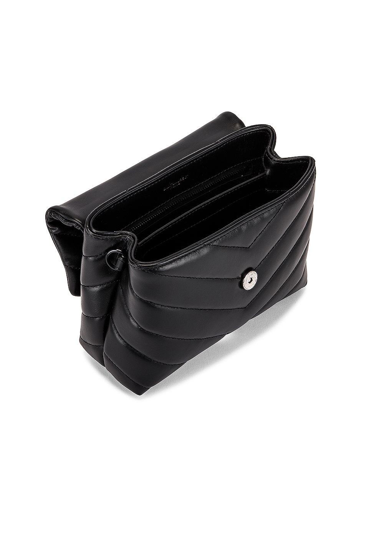 Image 5 of Saint Laurent Toy Supple Monogramme Loulou Strap Bag in Black & Black