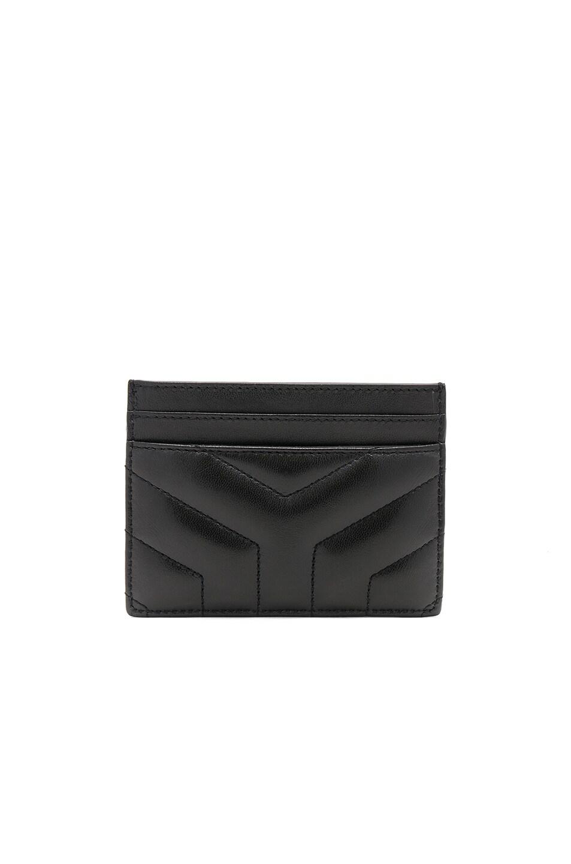 Image 2 of Saint Laurent Monogramme Loulou Credit Card Case in Black