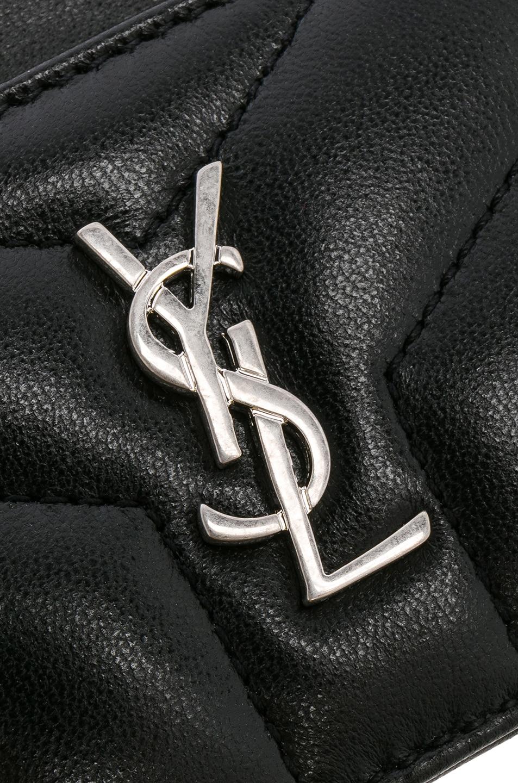 Image 4 of Saint Laurent Monogramme Loulou Credit Card Case in Black