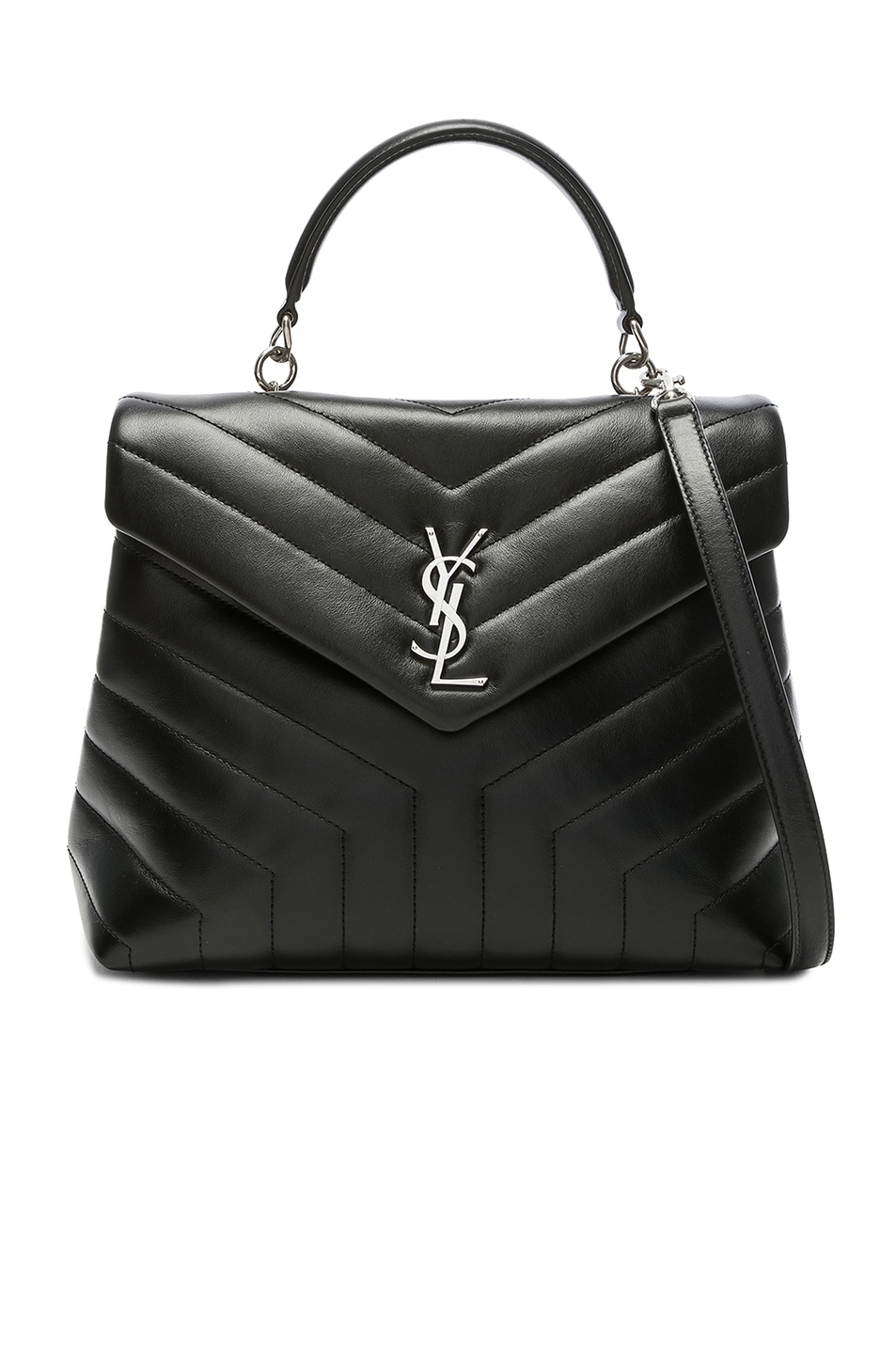 Image 1 of Saint Laurent Monogramme Loulou Top Handle Bag in Black ab9a1a26fb7b0