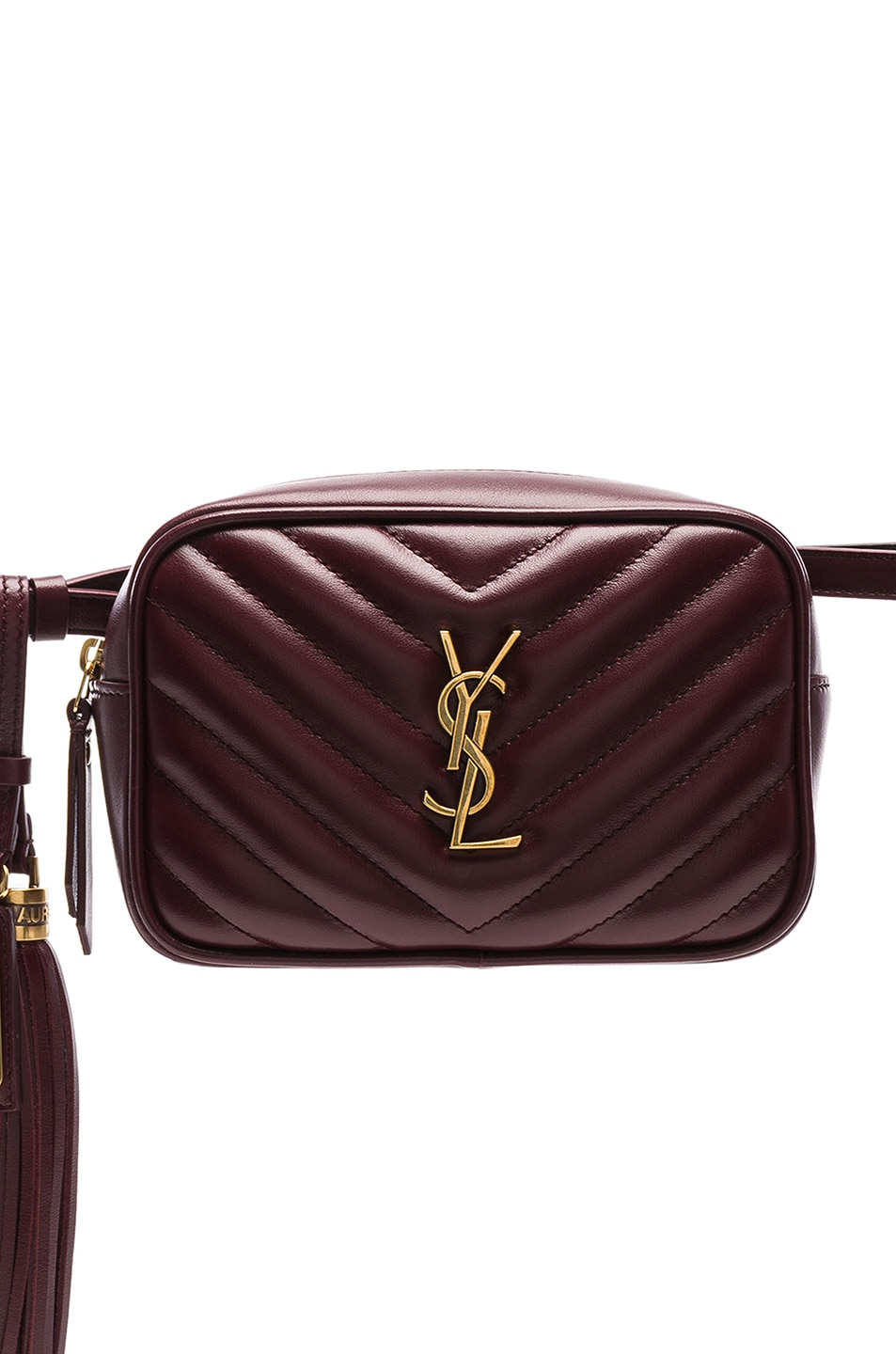 82a79eb0c Image 1 of Saint Laurent Monogramme Lou Hip Belt with Pouch in Legion Red