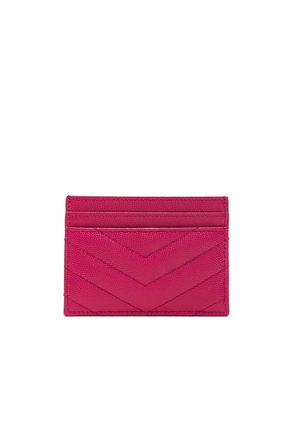 Image 2 of Saint Laurent Monogramme Card Case in Shocking Pink