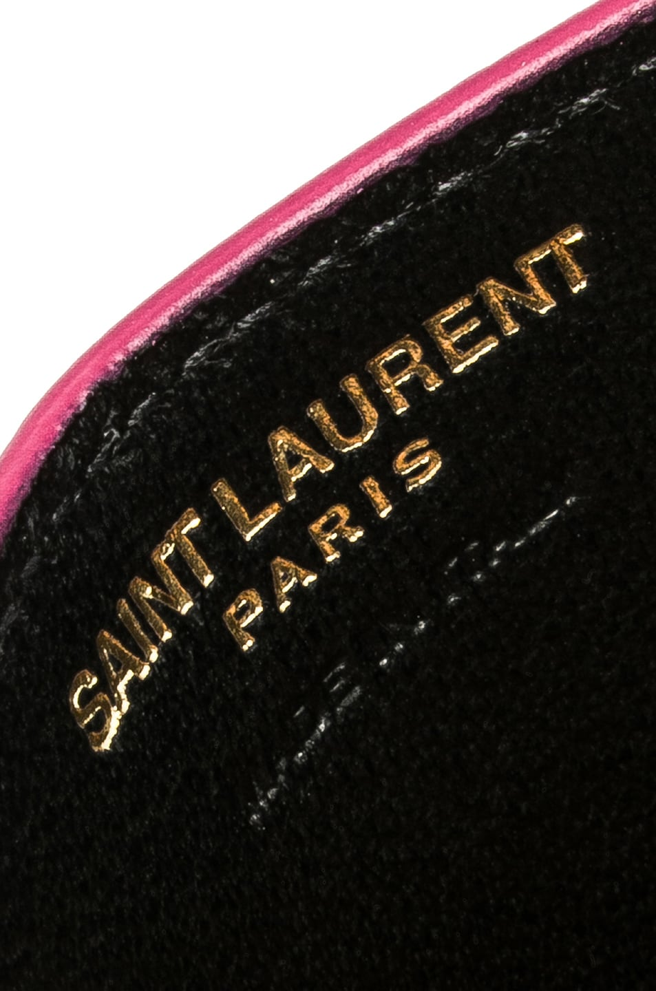 Image 3 of Saint Laurent Monogramme Card Case in Shocking Pink