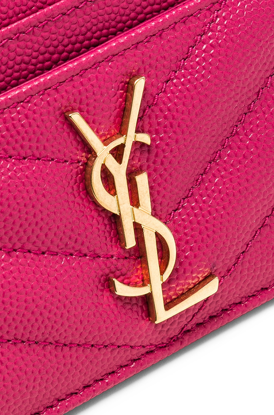 Image 4 of Saint Laurent Monogramme Card Case in Shocking Pink