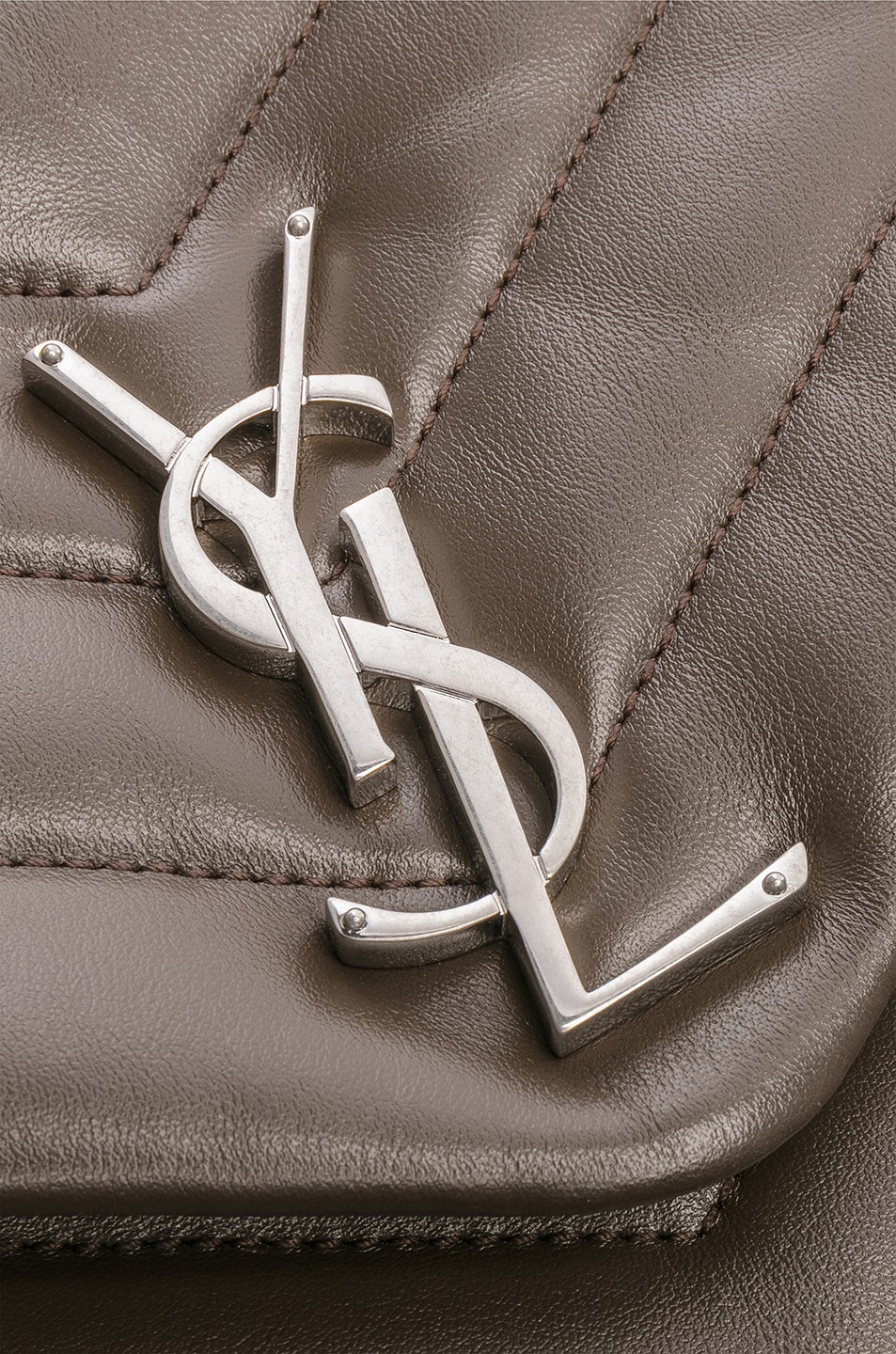 Image 7 of Saint Laurent Monogramme LouLou Shoulder Bag in Faggio & Faggio