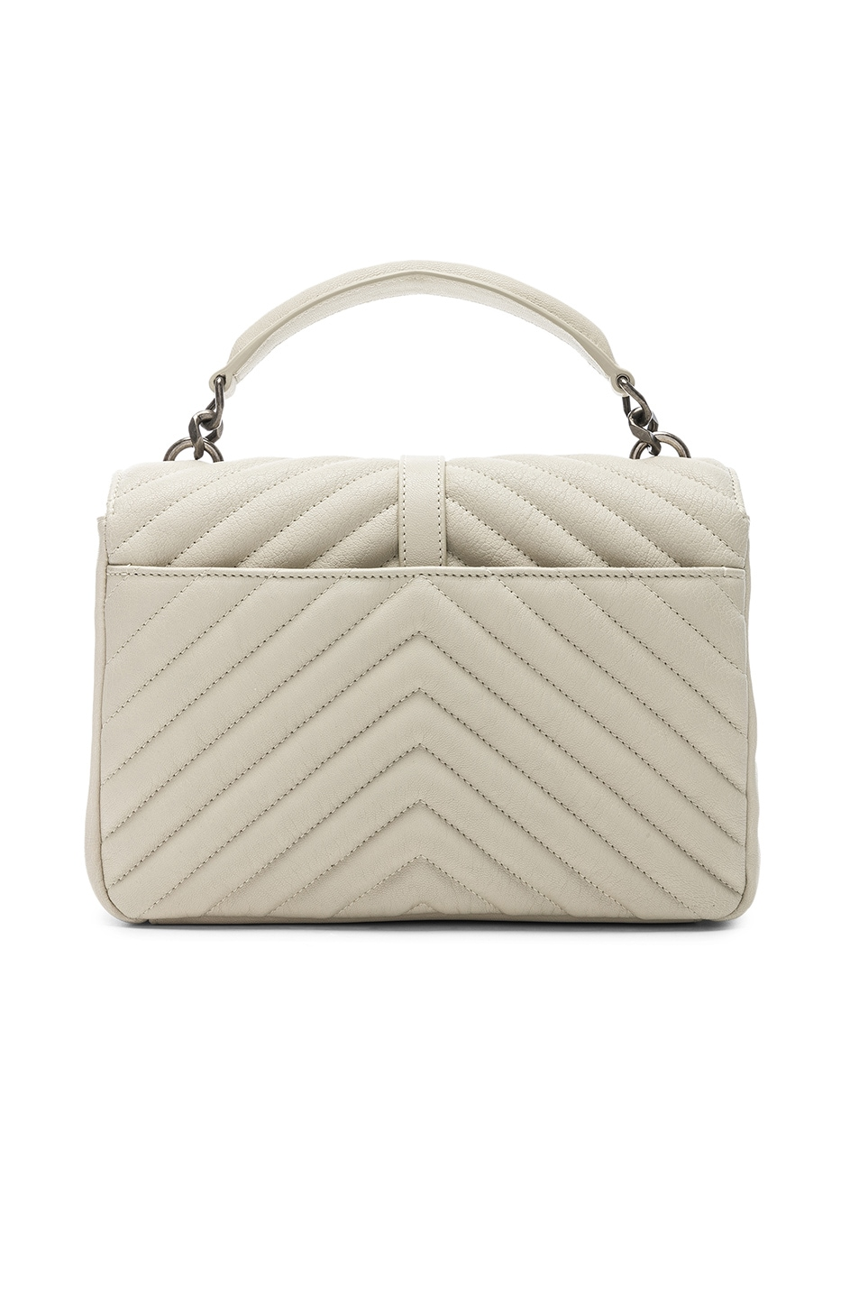 Image 3 of Saint Laurent Medium Monogramme College Bag in Crema Soft