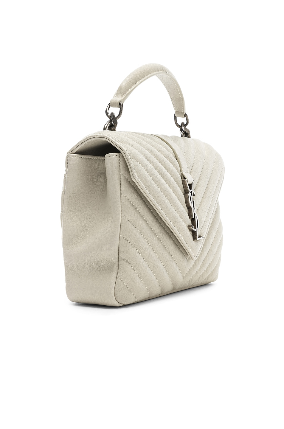 Image 4 of Saint Laurent Medium Monogramme College Bag in Crema Soft