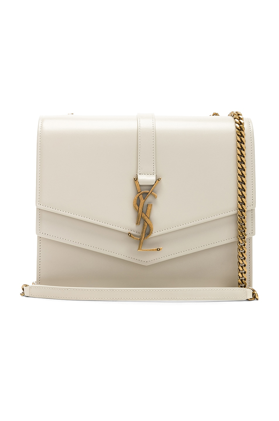 Image 1 of Saint Laurent Medium Monogramme Bag in Blanc Vintage