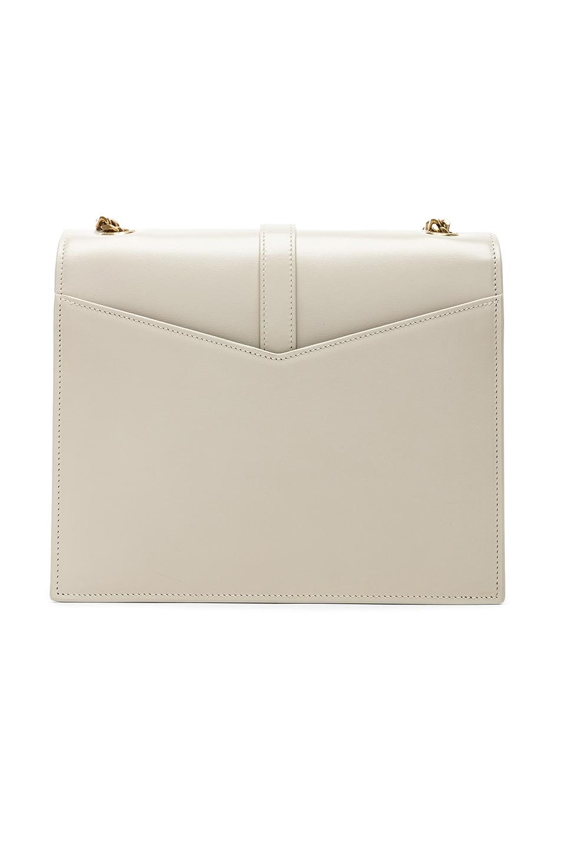 Image 3 of Saint Laurent Medium Monogramme Bag in Blanc Vintage