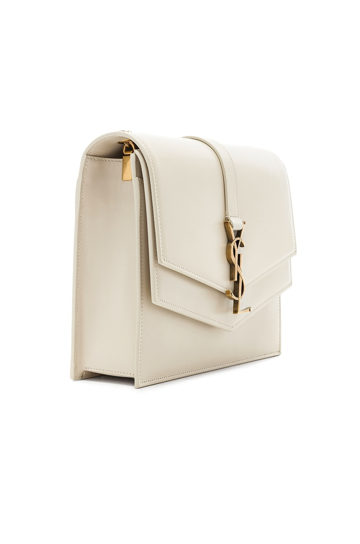 Image 4 of Saint Laurent Medium Monogramme Bag in Blanc Vintage