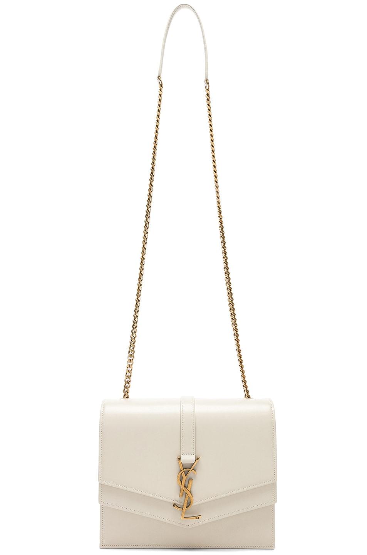 Image 6 of Saint Laurent Medium Monogramme Bag in Blanc Vintage